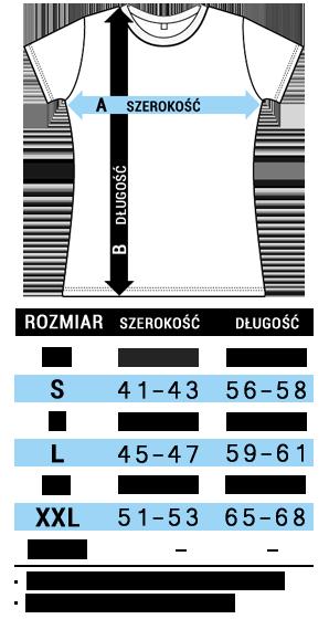 Tabela rozmairów koszulki damskie sols