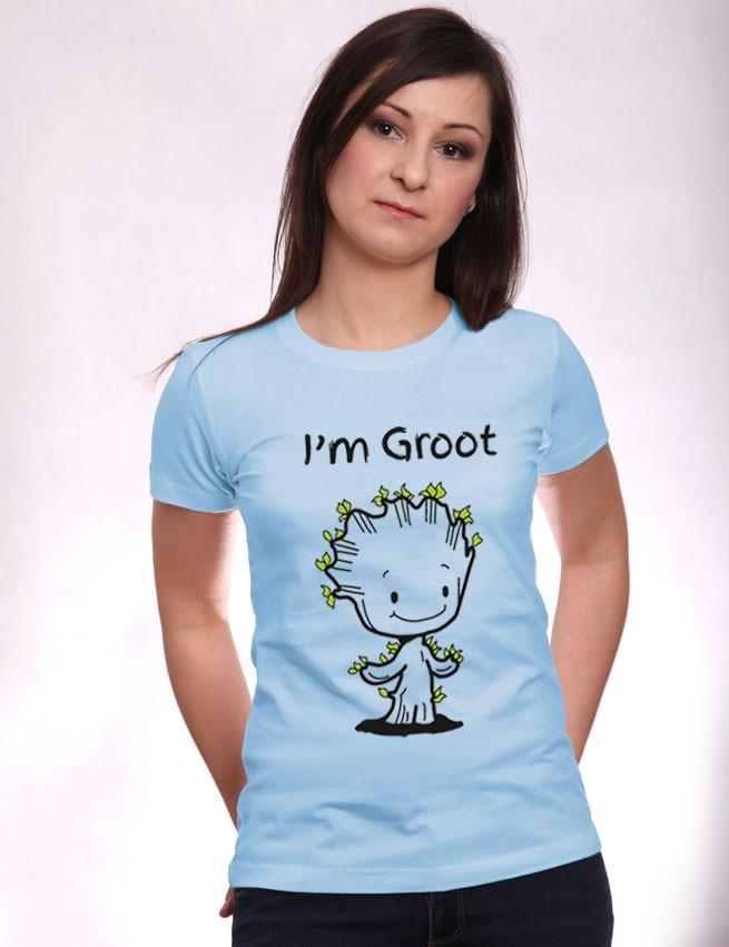 fdfdbf940 Koszulka I'm Groot | Śmieszne koszulki damskie | Rebelios.pl